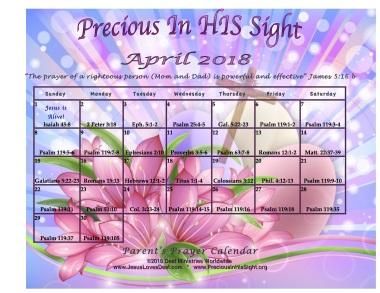 PreciousInHisSightApril2018