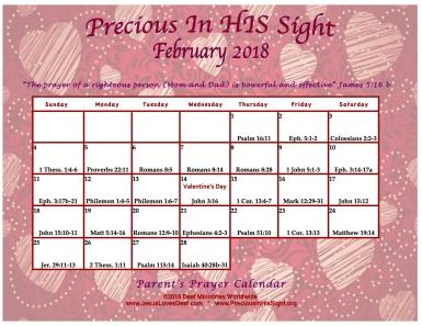 PreciousInHisSightFebruary2018